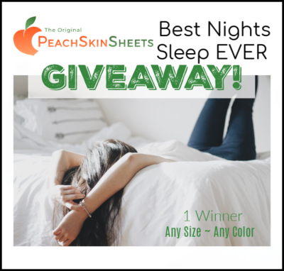 Peach Skin Sheets Giveaway - 6/7