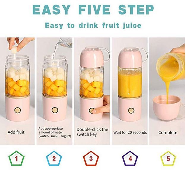 MCHATTE Portable Blender Instructions