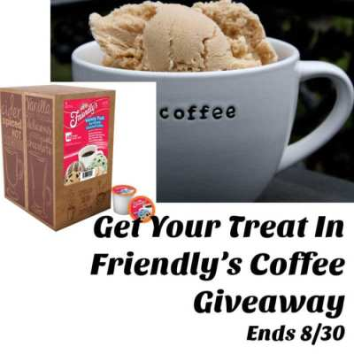 Get Your Treat In Friendly's Coffee Giveaway Ends 8/30