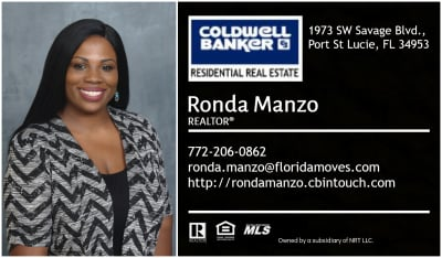 Ronda Manzo - Coldwell Banker Residential Real Estate - Real Estate Agent in Port St Lucie, FL