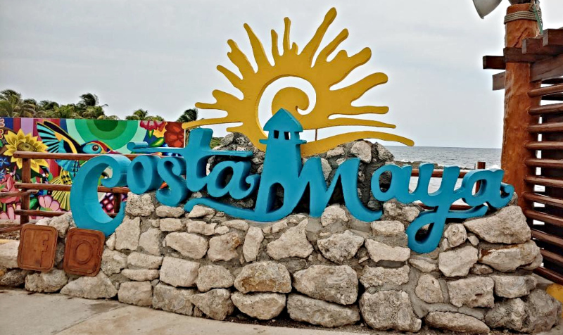 The Royal Caribbean Cruise Port in Costa Maya, Mexico photo prop area