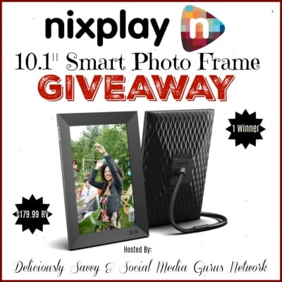 Nixplay 10.1: Smart Photo Frame Giveaway