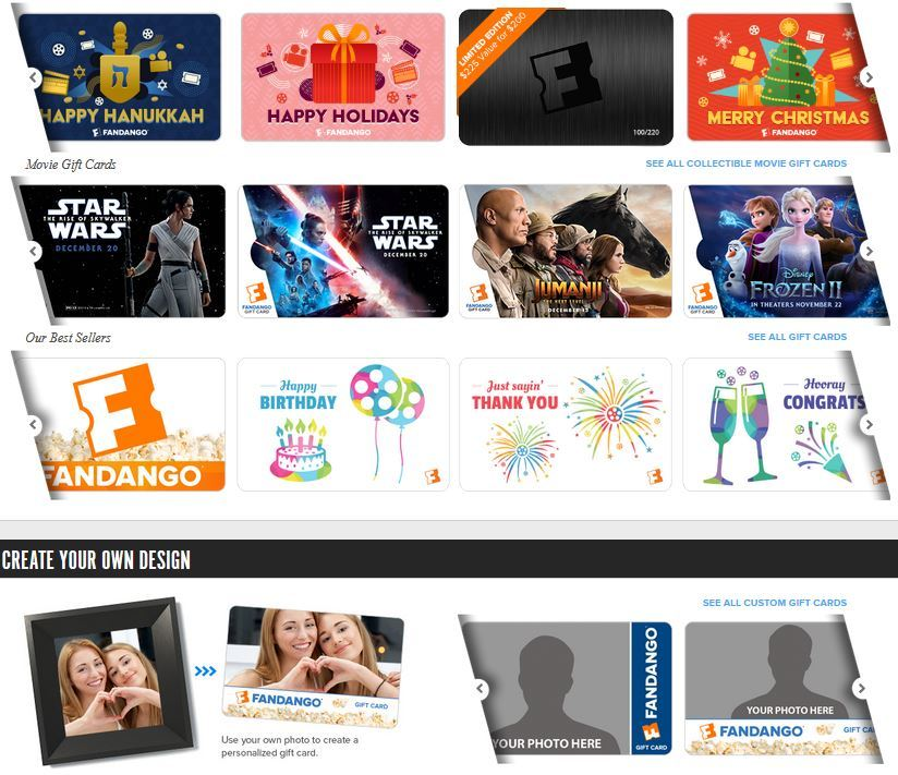 Bonus $20 Concession Certificate with $100+ Fandango Gift Card