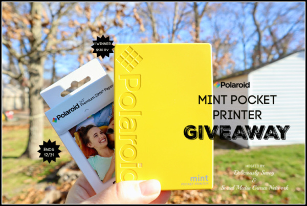 Polaroid Mint Pocket Printer Giveaway Ends 12/31