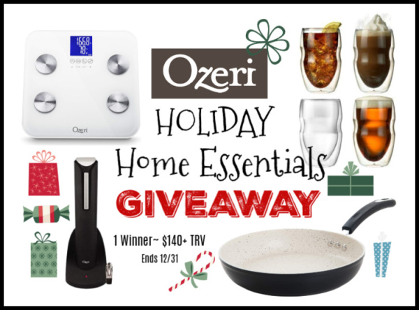Ozeri Holiday Home Essentials Giveaway Ends 12/31